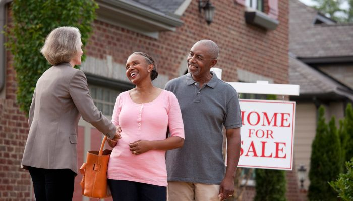 older couple buying a house